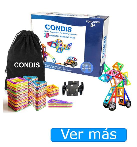Juegos de construcción para niños: juegos de construcción magnéticos Condis