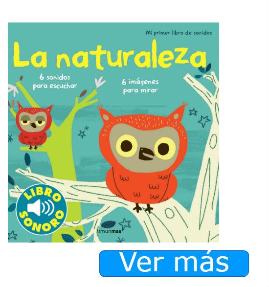 Libros para bebés de un año con sonidos: La naturaleza