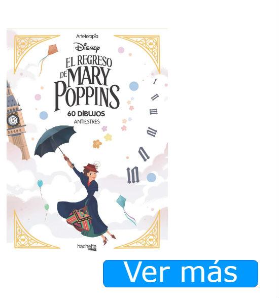Mary Poppins para colorear: libro antiestrés