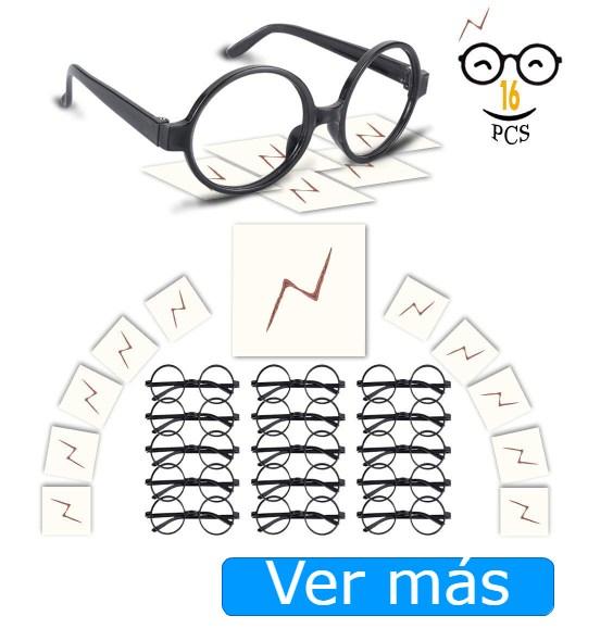Disfraz de Harry Potter: gafas y rayos