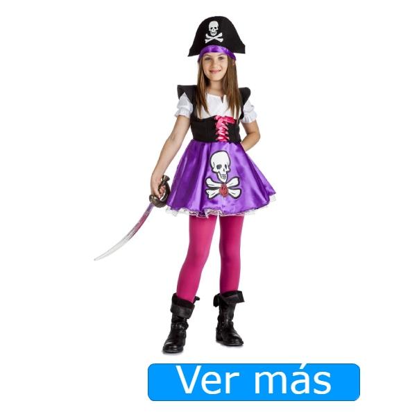Disfraz de pirata niña con vestido