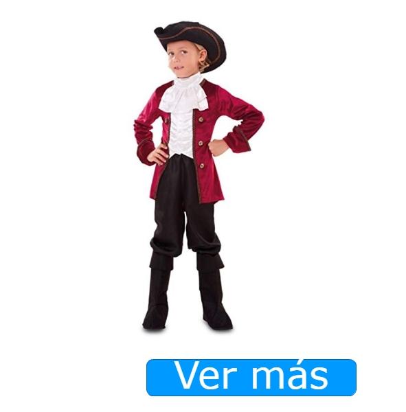 Disfraz de pirata niño de época