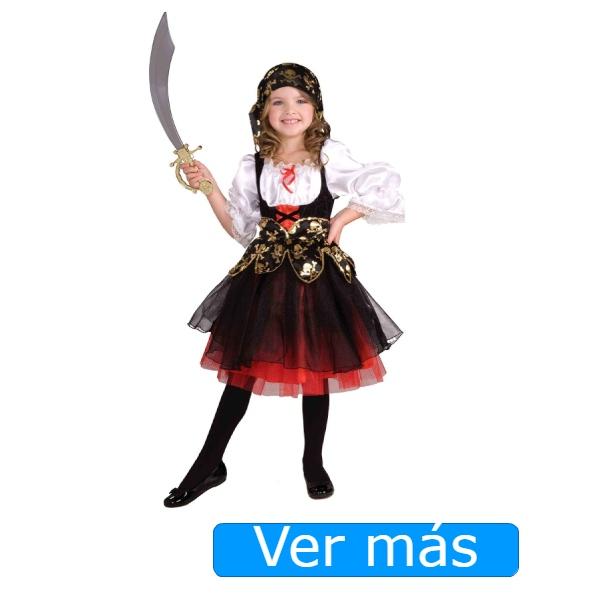 Disfraz de pirata para niña con tutú