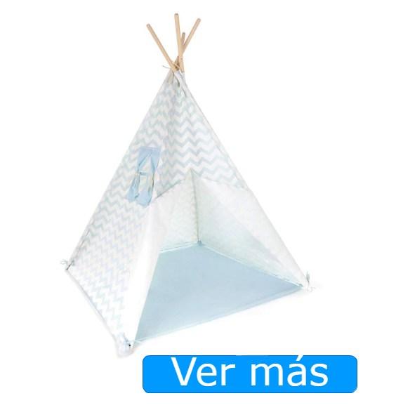 Tipi niños azul y blanco