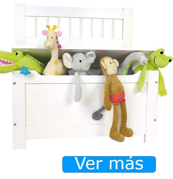 Baúl para juguetes con respaldo blanco JaBaDaBaDo