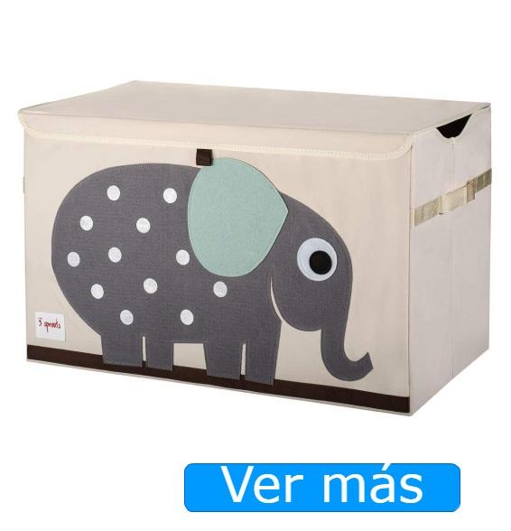 Baúl para juguetes de tela 3 Sprouts- Elefante
