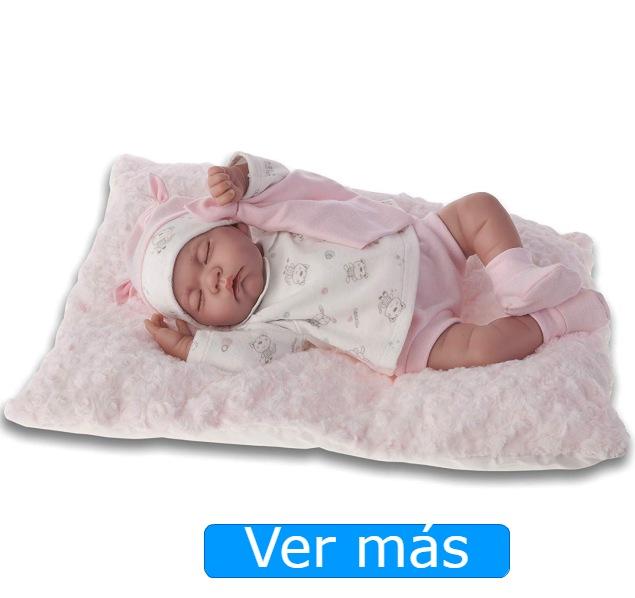 Bebés reborn-Muñeca Luna acostadita Antonio Juan