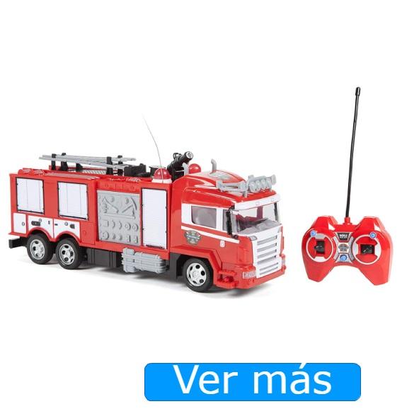 Camión de bomberos teledirigido que lanza agua World Tech Toys