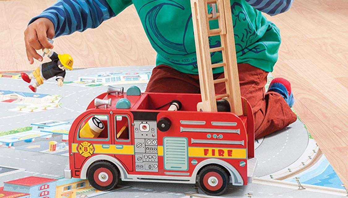 Camión de bomberos de juguete Le Toy Van
