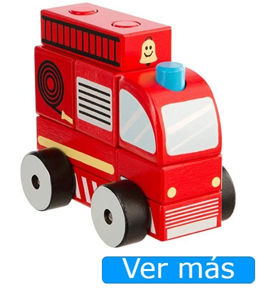 Camión de bomberos de madera para bebés Ultrakidz