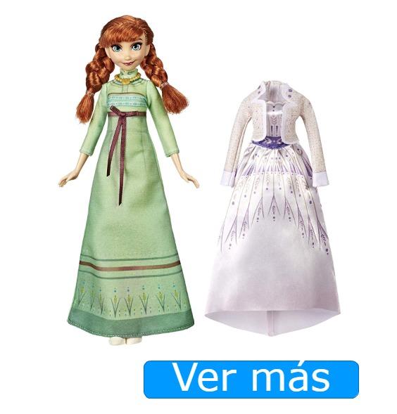Juguetes de Frozen 2: Muñeca de Anna con 2 vestidos