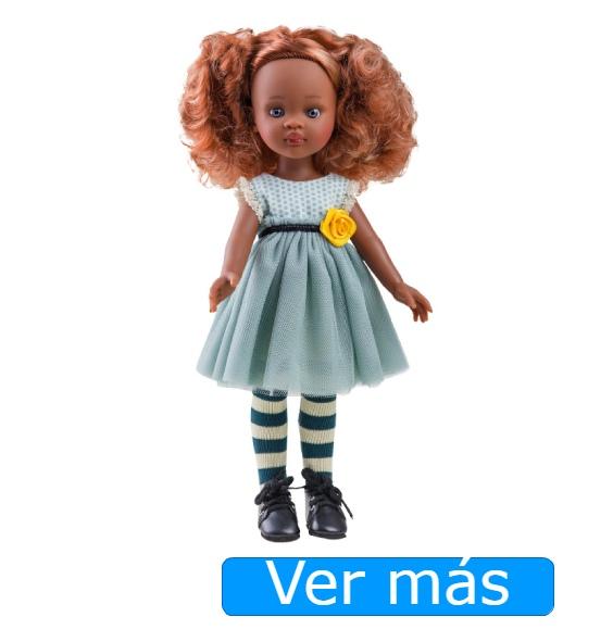 Muñeca pelirroja negra Nora