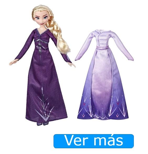 Muñecas de Frozen 2: Muñeca Elsa con 2 vestidos
